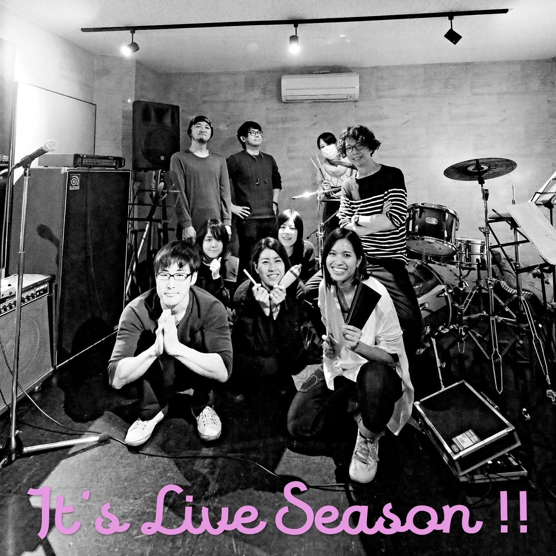 ライブシーズンです!|福岡のバンド、Singer Egg